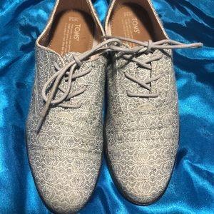 Toms oxfords gray pattern